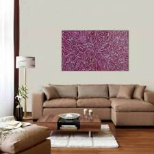 AUSTRALIAN ABORIGINAL ART PAINTING by JANET GOLDER KNGWARREYE 'BUSH YAM LEAF'