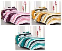 Baumwollbettlaken Kissenbezüge Streifen Gedruckt Hause Bettwäsche-Set