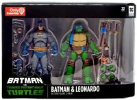 Batman And Leonardo 2 pack TMNT Teenage Mutant Ninja Turtles figures 2019 RARE
