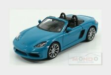 Porsche Boxster 718 (982) Spider 2016 Light Blue BURAGO 1:24 BU21087BL