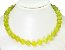 Beautiful Necklace from the Gemstone chytha-serpentin in Ball Shape d-12 mm