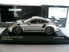 Porsche 911 (991.2) GT3 RS, Minichamps 410067020, GT-silber met., 2018,1:43, OVP