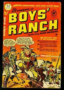 Boys' Ranch #2 1950- Simon and Kirby cover- Harvey Western- VG