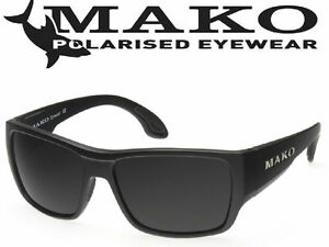 Mako COVERT MATT BLACK Grey Glass Sunglasses Polarised M01-GOHR