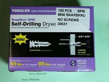 Toggler SnapSkru Mini SPM Self Drilling Drywall Anchors 30031 100/box
