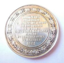 médaille argent SAUVETAGE DU SLOOP MARIE 1881