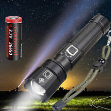 Shadowhawk Super-bright 90000lm Flashlight 26650 LED P70 Tactical Torch +battery