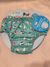 New Infant Baby Boys Iplay Reusable Sailboats Swimsuit Diaper Size 6 Months