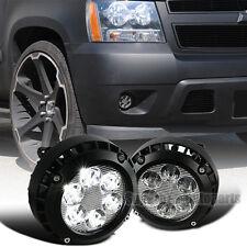 LED 2007-2014 GMC Ford Chevy Tahoe Suburban Glass Lens Fog Bumper Lights Kit