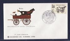 enveloppe 1er jour   journée du timbre    63 Issoire     de carnet     1986