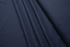 Jersey Little Darling blue mini dots on blue cotton knit fabric 0.54yd (0.5m)