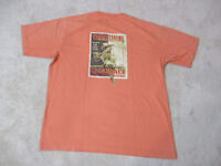Tommy Bahama Shirt Size Adult Large Orange Cigarface Parrot Cigar Relax Mens *