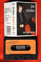 JOE COCKER ONE NIGHT OF SIN 1989 EXYU CASSETTE TAPE