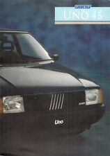 Fiat Uno 45 Formula 3-dr 1987-88 UK Market Foldout Sales Brochure