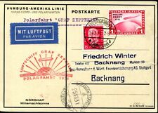 DR 1931 457-458 je auf ZEPPELINBELEG POLARFAHRT 1550(S7704