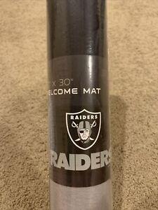New Raiders ~ Official NFL 20x30 Welcome Door Mat Rug