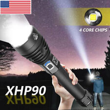 High Power XHP90 LED Flashlight Zoomable Torch Camping Lantern Hunting Lamp