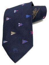 Authentic LOUIS VUITTON tie Vuitton Cup navy blue silk CUP men's Men's LV
