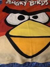 "Angry Birds Throw Blanket Fleece Angry Birds Commonwealth 60"" X 46""  Red"