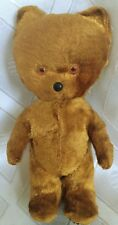 "Antique vintage teddy bear toy with glass eyes 5"" Rare"