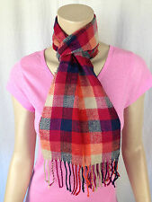 BNWT Ladies Rivers Brand Smart Orange/Multi Checks Versatile Acrylic Scarf
