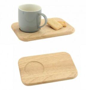 Tea & Biscuit Wooden Serving Board Plate Hevea Wood Afternoon Tea Gift Christmas