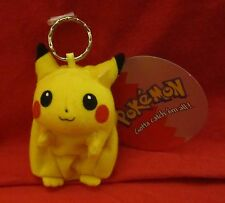 Pokemon Pikachu Original Zipper Coin Pouch Key chain Plush Figure 1998, NWT