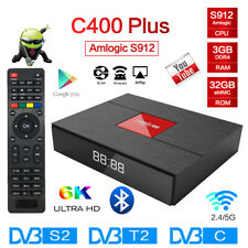 C400 PLUS TV BOX S912 Octa Core 3D 3+32G 4K Dual WIFI BT4.1 Android Media Player