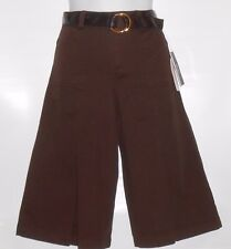 BCX Girl Gauchos & Faux Leather Belt Brown Eight (8) NWT