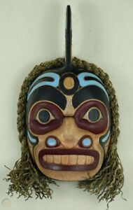 FIRST NATION STYLE ORCA (KILLER WHALE) SPIRIT MASK ~ CANADIAN ABORIGINAL STYLE