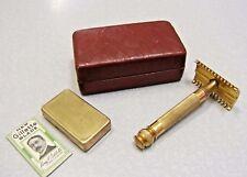 1930'S Gillette NEW STANDARD Federal Safety Razor Set in Case