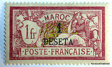 MAROC STAMP TIMBRE Yt16  MERSON 1 PESETAS SUR 1F  NEUF 426a17