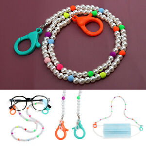 Neck Straps Reading Glasses Chain Acrylic Beaded Chain Face Mask Lanyards