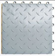 Speedway Garage Tile Mfg. Silver Garage Floor Tiles - Diamond plate