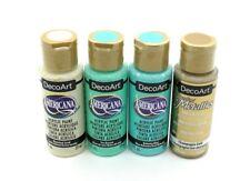 Bundle of 3 DecoArt Americana Acrylic Paints & 1 gold metallic - see details