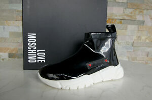 LOVE MOSCHINO Gr 39 Sneakers Slip-Ons Slipper Schuhe schwarz NEU ehem UVP 200 €