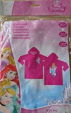 Disney Princess * Regenmantel *Regenjacke* 128-140 * Pink + Motiv * Neu *OVP