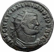 MAXIMIAN 295AD Authentic Ancient Roman Coin JUPITER ZEUS Victory i79422
