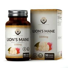 Lion's Mane Mushroom (From 5:1 Extract) | Supports Memory | 90 Vegan Capsules