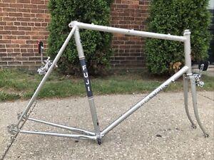 63cm 1985 Fuji Sagres Road Bike Frame / Fork / Headset / Bottom Bracket 130mm