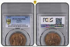 O1485 RARE !! 10 Centimes Dupuis 1917 FDC PCGS MS65 ->