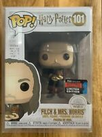 Funko Pop! Filch And Mrs. Norris Harry Potter New Protector 2019 Fall Conventjon