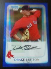 Drake Britton-2011 Bowman chrome Baseball- rookie refractors-BCP94-Redsox