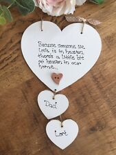 Because someone we love is in Heaven quote memorial Heart vintage plaque sign