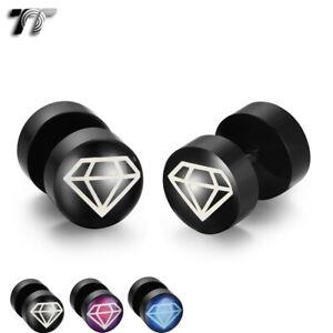 TT 8/10mm Epoxy UV Acrylic Fake Ear Plug Earrings (BU04)2020 NEW