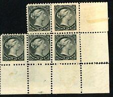 Canada 1882 Stamp (6) #82 1/2 black, Unused, VF Variety H, NH