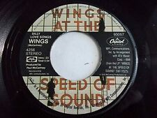 Paul McCartney Wings Silly Love Songs / Cook Of The House 45 1976 Vinyl Record