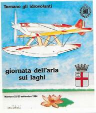 ITALY AVIATION SOUVENIR CARD 23/9/1984 MANTOVA C.P. LAST DAY OF MEETING.