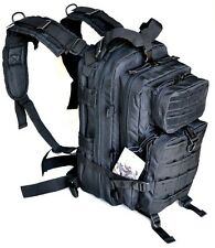 Black SWAT Police Tactical Level 3 Military Style Assault Pack Backpack w Molle