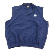 Footjoy Golf 3 Snap Button Lightweight Pullover Vest Navy Blue Men's Medium